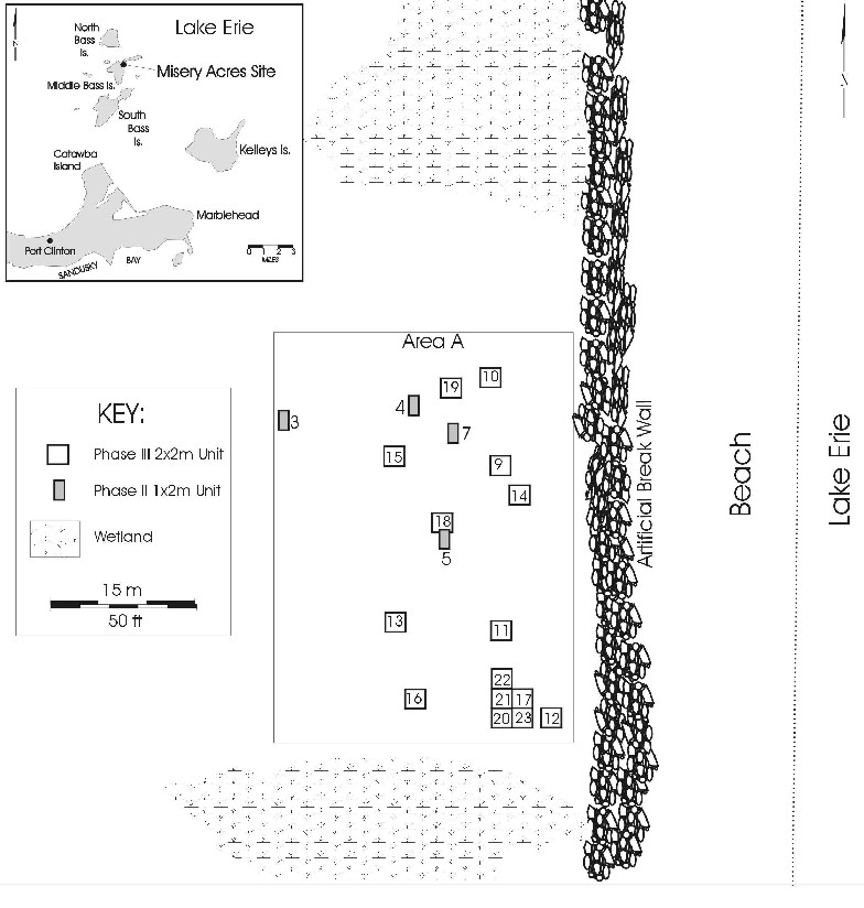 Figure 1. Location map showing Area A of Misery Acres