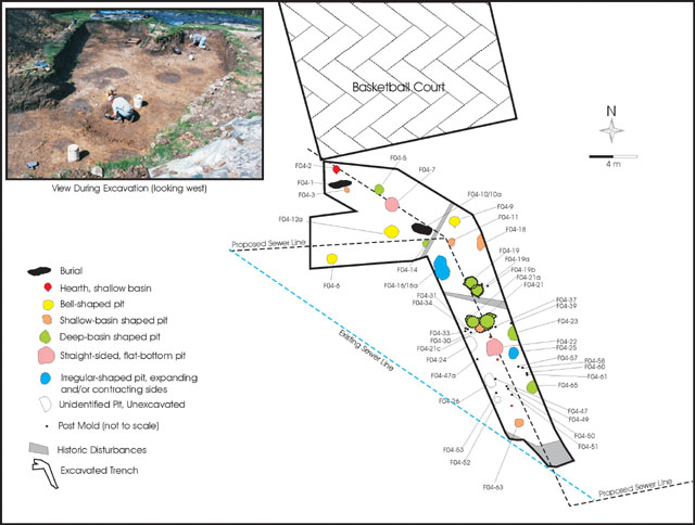 Figure 1: Plan view of 2005-04 excavations conducted by Gray & Pape, Inc.