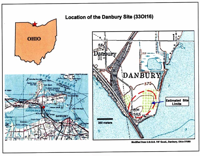 Figure 1: Location of the Danbury Site.